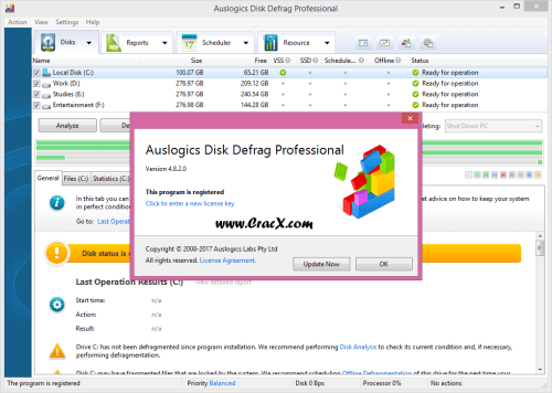 Auslogics Disk Defrag Professional 4.8.2 + Keygen Free Download