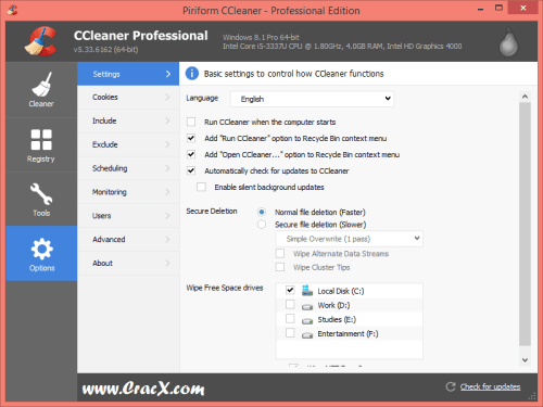 CCleaner Pro 5.33.6162 [2017] Patch & Serial Key Download