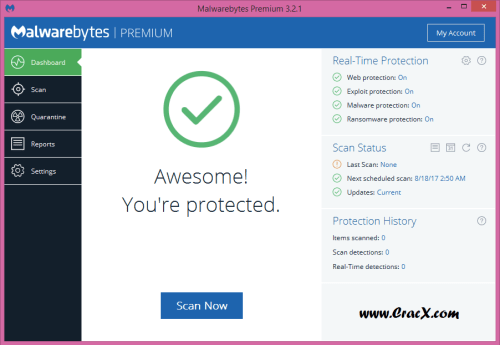 Malwarebytes Premium 3.2.1.2008 Beta 2 + Crack Download