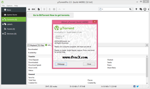uTorrent Pro 3.5.0 build 44090 Crack + Portable Download