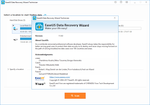 easeus data recovery wizard 11.9 crack + serial key 2018