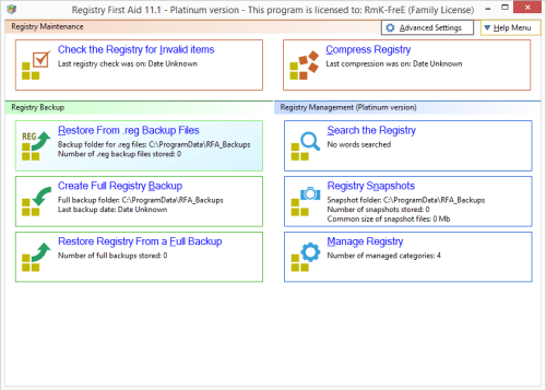 Registry First Aid Platinum 11.1.0.2492 License Key & Patch Download