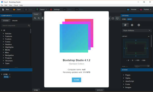 Bootstrap Studio 4.1.2 Keygen & Activator Free Download