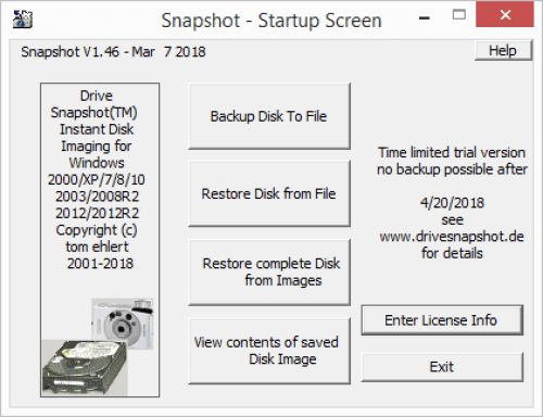 Drive SnapShot 1.46.0.18023 Full License Key + Patch Download