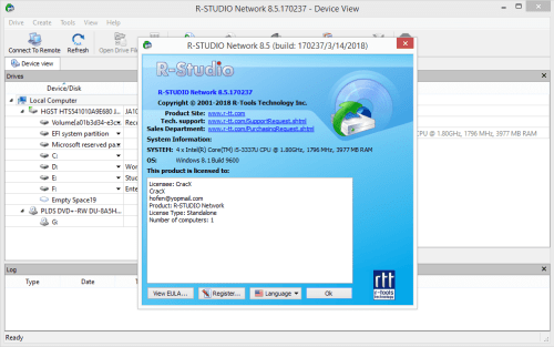 R-Studio 8.5 Build 170237 Full Keygen & Activator Download