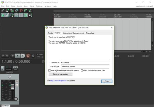 Cockos REAPER 5.80 Full Keygen & Activator Download