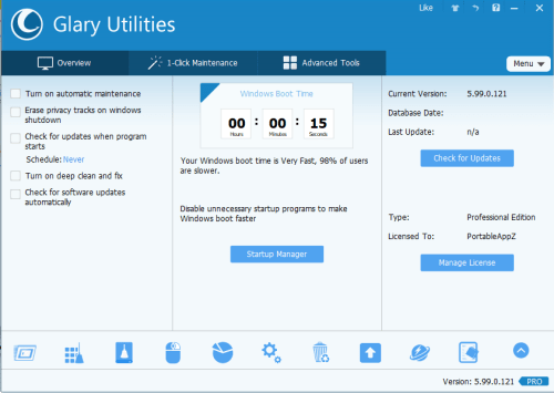 Glary Utilities PRO 5.99.0.121 Serial Key + Crack Download