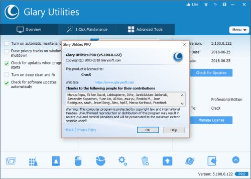 Glary Utilities Pro 5.100.0.122 Keygen & Activator Download