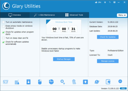 Glary Utilities Pro 5.100.0.122 Serial Key + Patch Download