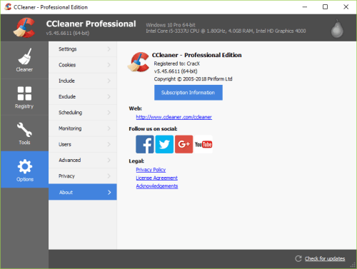 CCleaner Pro 5.45.6611 Full Keygen & Activator Download