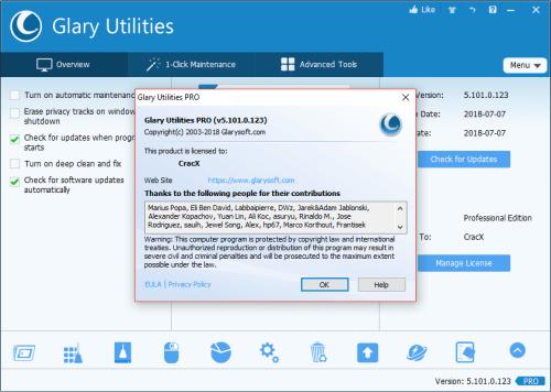 Glary Utilities Pro 5.101.0.123 Keygen & Activator Download