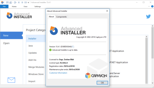 Advanced Installer Architect 15 4 1 Patch & Serial Key Download