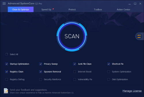 Advanced SystemCare Pro 12.0.3.199 Serial key & Crack Download