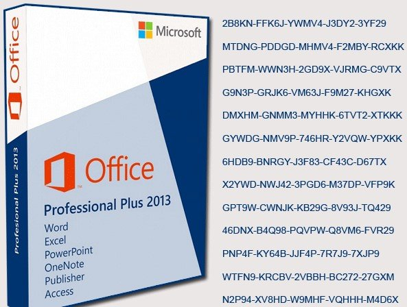 office 2013 pro plus volume license mak key