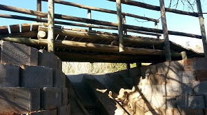 Wooden bridge for riders