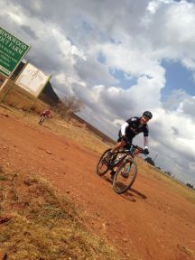 Rider enjoying the new MTB trails