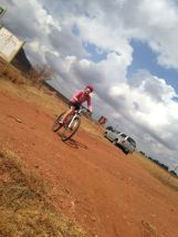 A rider enjoying the MTB routes in the Cradle