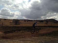 Mountain biking on the Green Trail, Cradle of Humankind