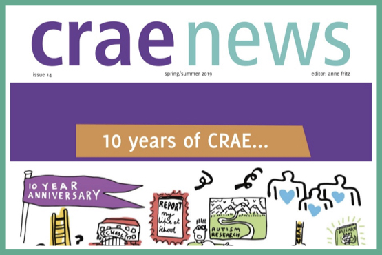The front page to issue 14 of CRAE News, Spring/Summer 2019.