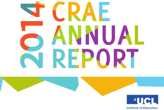 The front page of the 2014 CRAE Annual Report.
