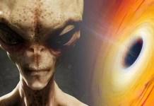 Alien harvesting energy from Black Holes