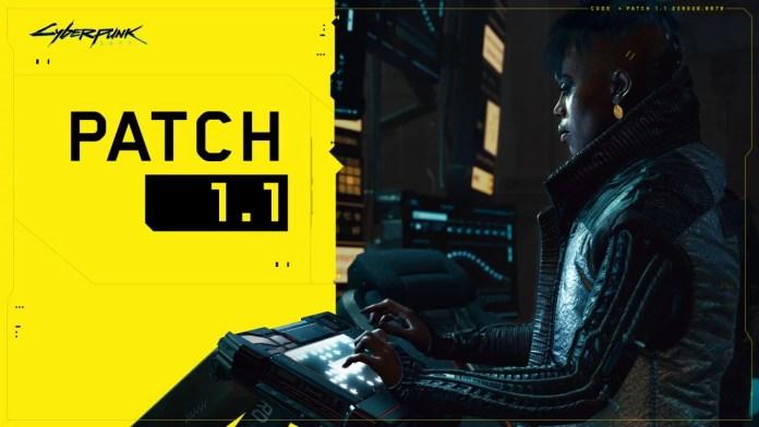 cyberpunk 2077 patch 1.1 released