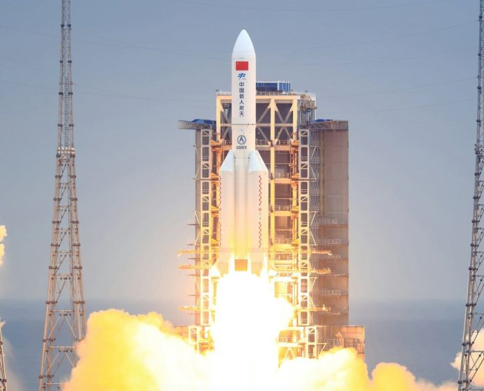 """Space debris from Chinese """"Long March 5B"""" ends up in the Indian Ocean"""