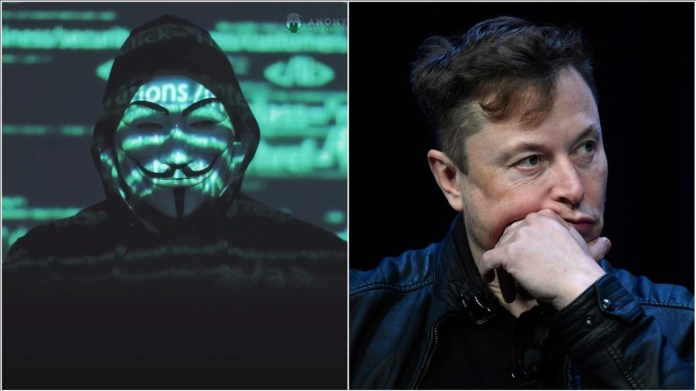 Anonymous to elon musk