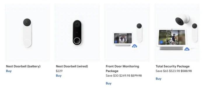 Unannounced  Nest Doorbell on Google Store