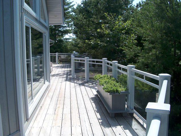 aluminum railing outdoor deck railing