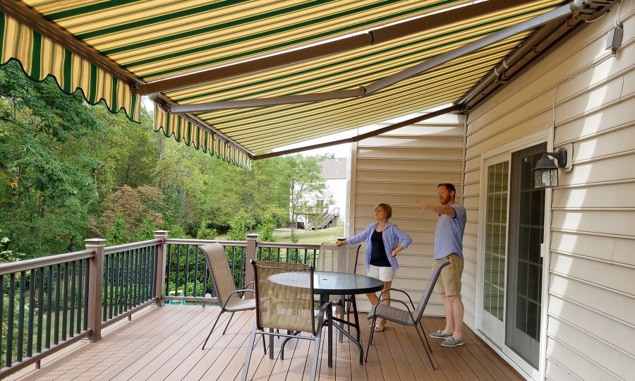 retractable awnings fabric shades