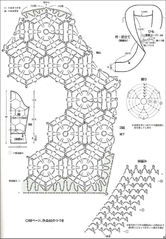 snowlakes fashion for women: crocheted sowflakes bolero