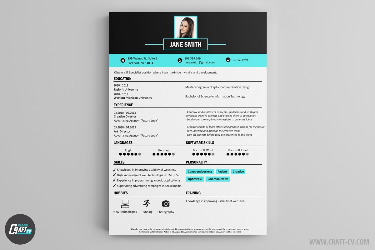 Creative Resume Maker Resume Builder Creative Resume Templates Craftcv