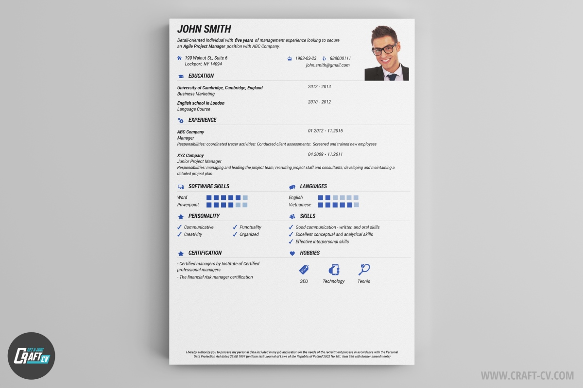 Pick This Resume Sample And Create A Overwhelming Impression. Get Noticed  Using The Wide Range Of Icons And Colors!