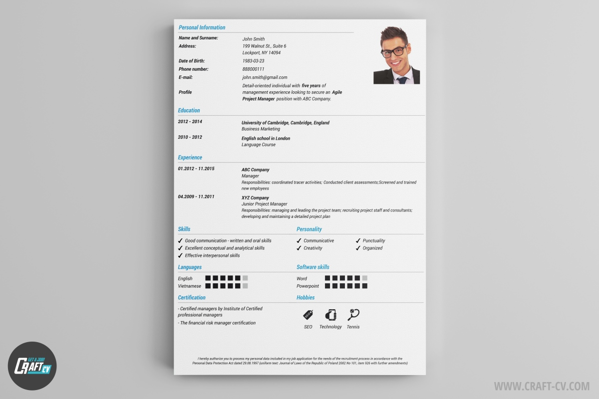 As The Name Of The Cv Template Shows, Classic Is 100% Traditional And  Professional. You Can Use It When You Are Sure That You Don't Need To Show  Your