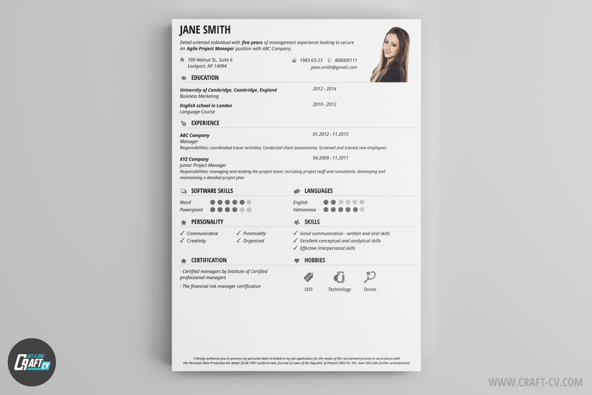 simple student cv example