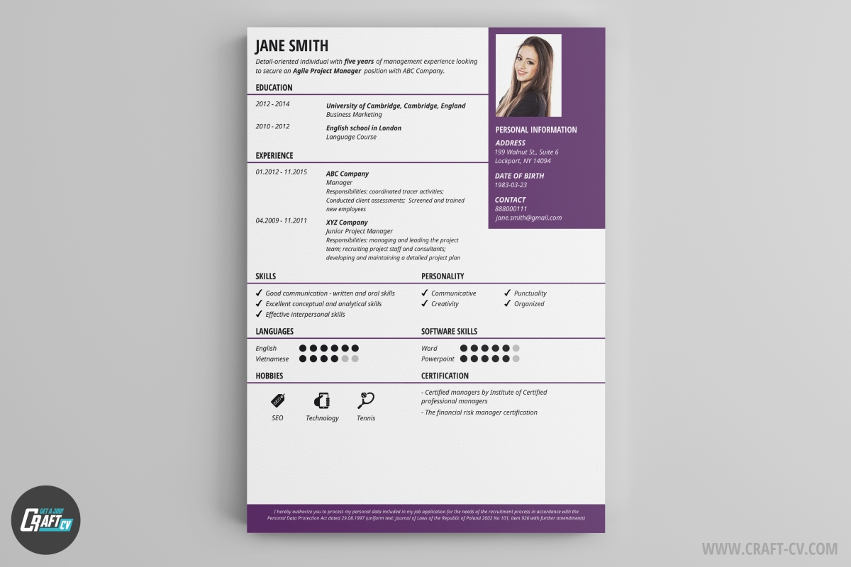 online resume maker template