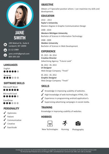 Créateur De CV Créer Un Curriculum Vitae Modèles De CV