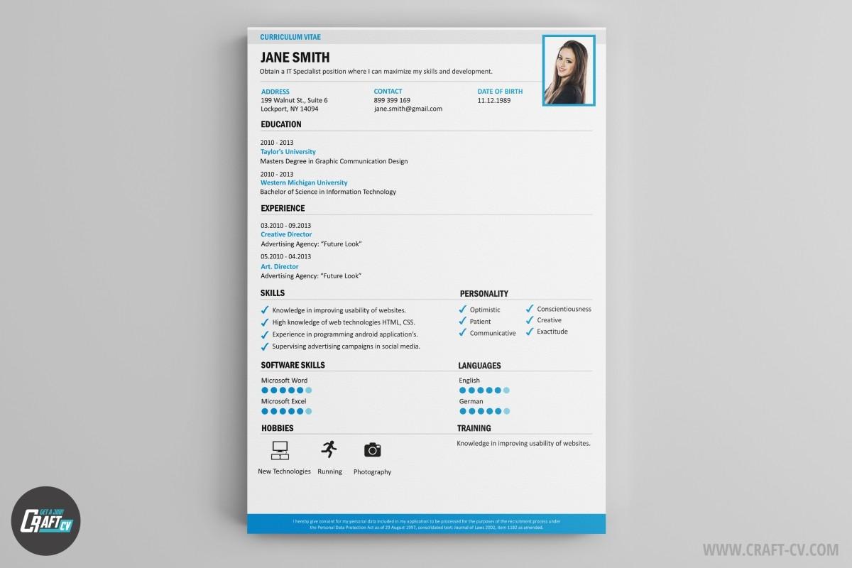Voorbeeld CV Kleurrijke CV Sjablonen CraftCV