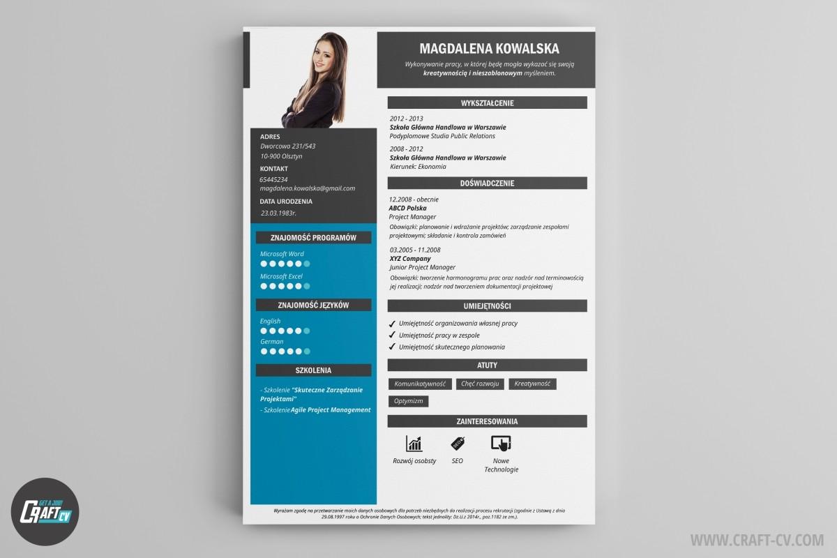 Wzory CV Kreatywne Szablony CV Program Do CV CraftCV