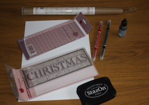 Basic Resources for Christmas Card Craft Ideas|project 1