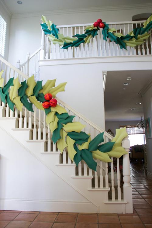 Beautiful Christmas Stair Garland Ideas