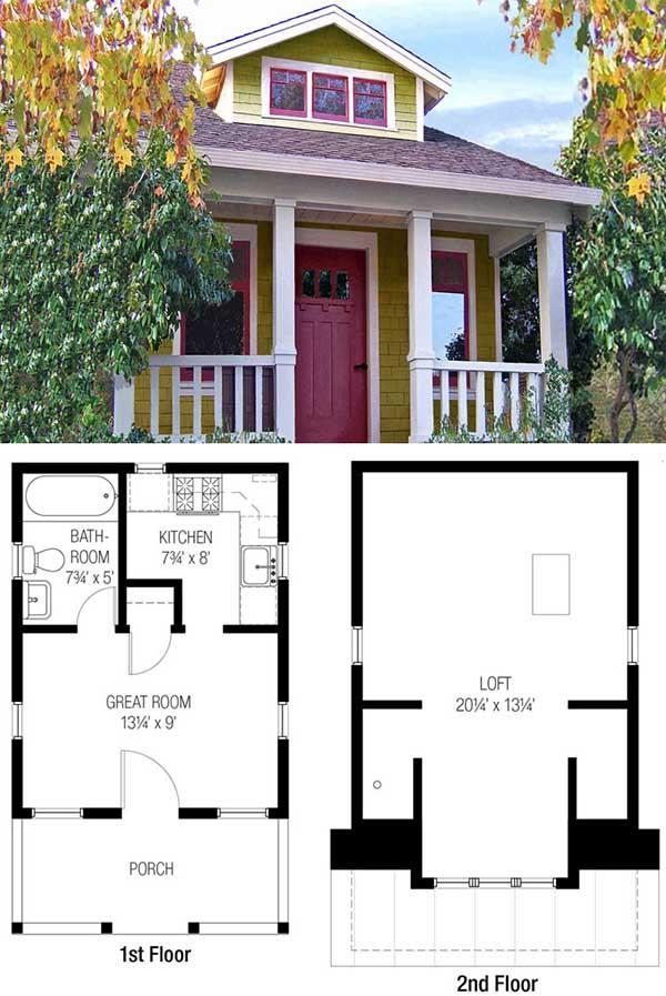 27 Adorable Free Tiny House Floor Plans  CraftMart