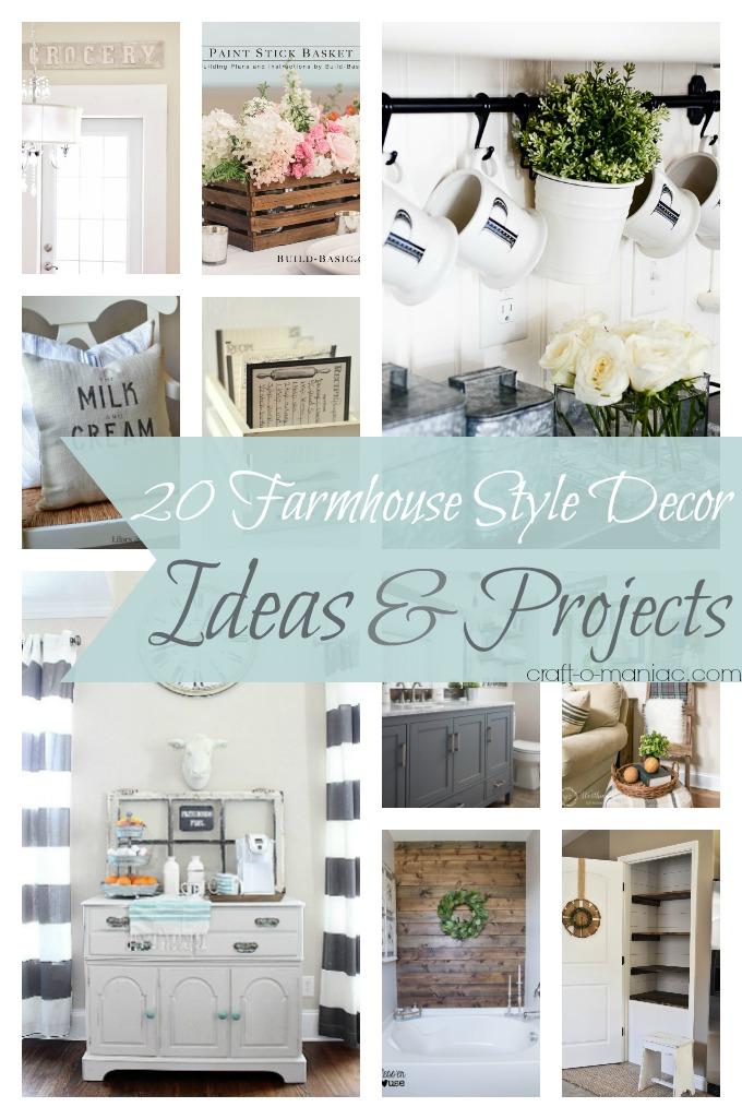 20 Farmhouse Style Decor Ideas Amp Projects Craft O Maniac