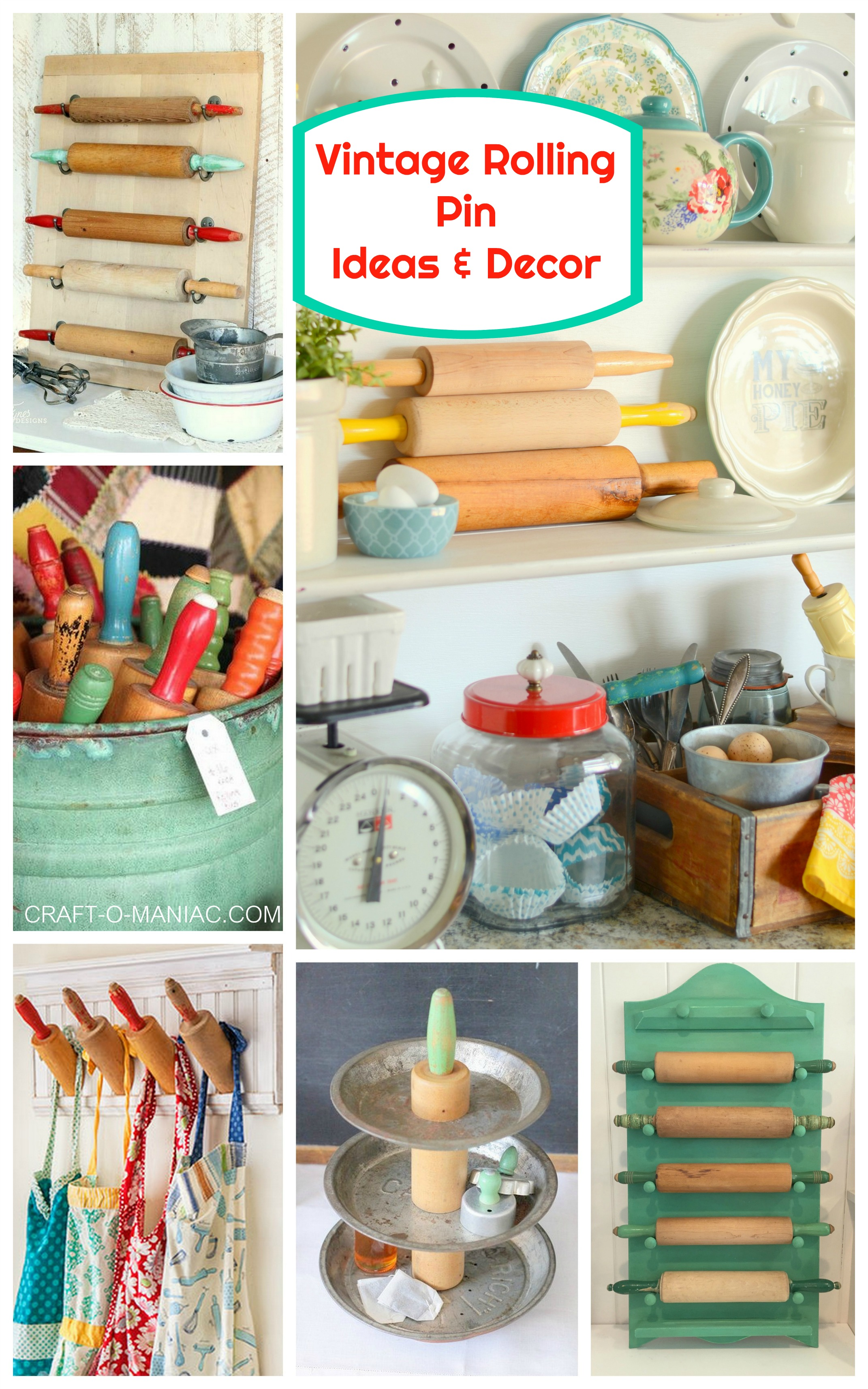 Vintage Rolling Pin Ideas And Decor Craft O Maniac