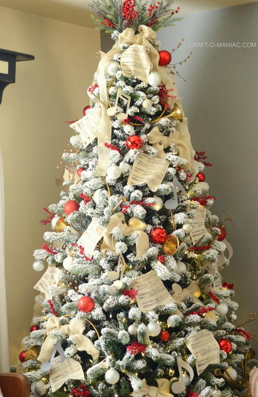 Music Themed Christmas Tree Ornaments