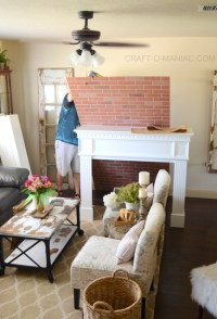 DIY Faux Brick Fireplace - Craft-O-Maniac