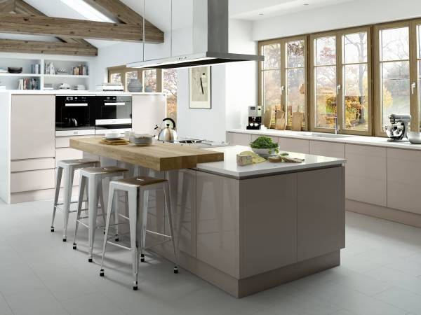 kitchen picture cabinets chandler az omega plc modern classic fitted kitchens made in the uk line gloss cashmere