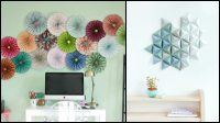 Easy paper decor ideas to spruce up plain and boring walls ...