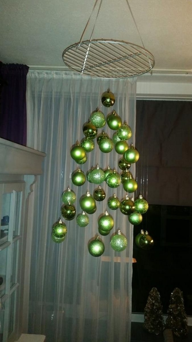 How to make a suspended ornament Christmas tree  Craft